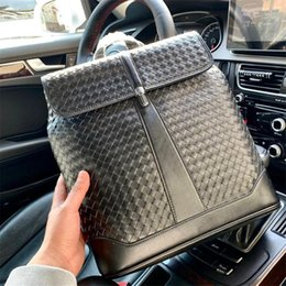 hochwertiger laptop-rucksack Rabatt berühmter Business-Stil Rucksack für Männer aus echtem Leder Laptop-Taschen Top-Material und Top-Qualität Männer Schulter Bgs