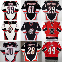 Benutzerdefinierte Buffalo Sabres irgendein Name Number 44 Alexei Zhitnik 30 Ryan Miller 39 Dominik Hašek 30 Ryan Miller 16 PAT LAFONTAINE Hockey CCM Jersey von Fabrikanten