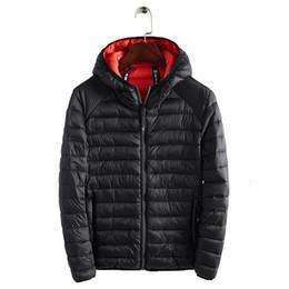 homens casacos de inverno leve Desconto Nova 2019 Inverno Ultraleve Mens Cotton jaquetas leves Overcoats Casual Clássico Coats por Homem Plus Size S-XXXL CJ1911108