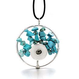 Árbol de la vida 276 gargantilla collar Fit 12 mm 18 mm botón a presión collar colgante de cristal de piedra natural joyería mujeres regalo de Navidad desde fabricantes
