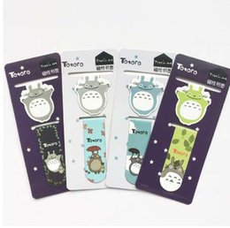 Aimants d'école en Ligne-2 pcs / pack Totoro Aimant Signet Trombone School Fourniture Bureau Escolar Papelaria Cadeau Papeterie