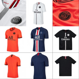 camiseta de fútbol de tailandia al por mayor Rebajas Mens 2019-20 AJ PSG Soccer Jersey 2019 2020 New Paris ICARDI CAVANI VERRATTI PSG Camisetas de fútbol Tailandia Style Jerseys Wholesale