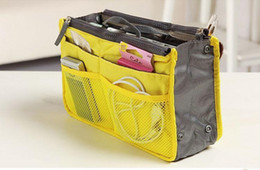 Argentina Organizador de maquillaje para pañales Cremallera doble multifunción portátil Espesar Bolsa de almacenamiento Titular de la caja Amarillo cheap yellow diaper bags Suministro