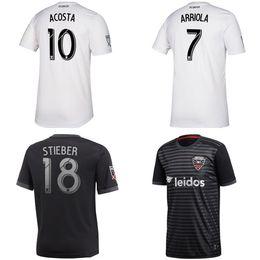 2019 c uniforme 2019 2020 D C United Soccer Jerseys Kits ARRIOLA ACOSTA HARKES STIEBER 19 20 ROONEY DC United kit de equipos de uniformes de camisetas rebajas c uniforme