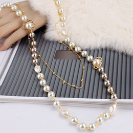 """FC112206 20/"""" 5 Strands Multi Color Top-Drilled Pearl  Necklace"""