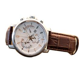 Argentina Moda AAA Calidad Reloj de pulsera de cuarzo de lujo Noche Puntero de luz impermeable de los hombres con banda de cuero cheap quartz night light Suministro