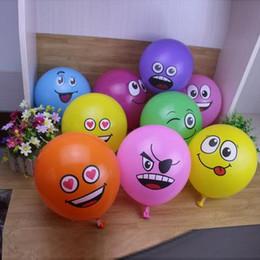 2019 ballons souriants 2018 100 pcs 12 Pouce Latex Expression Balloon Nouveau Dessin Animé Rond Enfants Jouet Smiley Balloon 2. 8g Décoration De Partie promotion ballons souriants