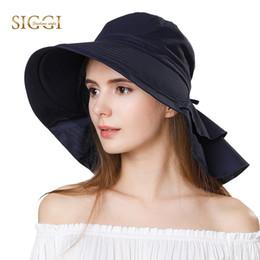 4c41aa5b6fb FANCET Women Cotton Sun Hats Beach Ponytail Packable Foldable Wide Brim Hats  Femme Chapeau Female Girl Caps UPF50+ Gorros 69085  47353