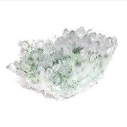 Объемный кварц онлайн-Оптовый Декоративный Природный Зеленый Призрак Кристалл Призрак Кварц Кристалл Кластера Для Украшения