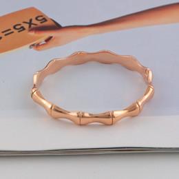 Brazalete de articulaciones online-Venta caliente de calidad superior pulsera brazalete para las mujeres de bambú conjunta brazalete pulsera moda mujer brazaletes joyería