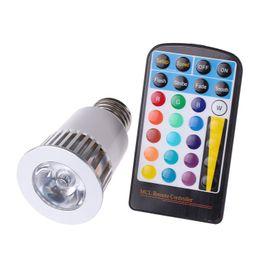 Fonction de mémoire Changement de couleur de la lampe RVB Spot LED Spot LED Flash Spot 5W E27 GU10 MR16 Ampoules Led AC 85-265V avec 28 touches ? partir de fabricateur