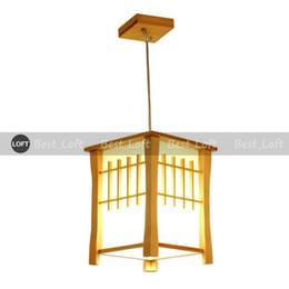 Luz pendant japonês on-line-Clássico De Madeira Varanda Pingente Lâmpadas Estilo Japonês Sala De Jantar Pingente de Luz Corredor Corredor Lâmpada Pingente