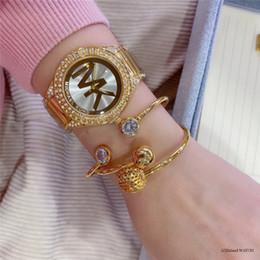 Bilezik Saatler İçin Kadınlar Rose Gold Rhinestone Saat Ünlü michael Kadınlar Moda Elbise Bayanlar İzle Kadın lüks altın saat mk gül nereden ucuz altın dijital saat tedarikçiler