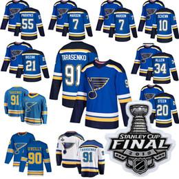 5a7d3bb7b 2019 Stanley Cup Final jersey St. Louis Blues Jaden Schwartz Ryan O Reilly  Maroon Binnington Tarasenko Pietrangelo Bozak hockey jersey