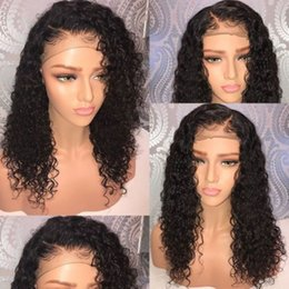 hairstyles for natural wavy hair Promo Codes - Full Lace Human Hair Wigs Pre Plucked For Black Women Wet And Wavy Virgin Brazilian Lace Front Wig With Baby Hair