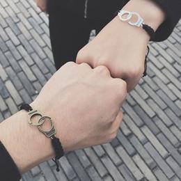 Freiheitszauber online-Vintage Silber Gold Farbe Handschellen Armbänder Für Männer Frauen Freiheit Charme Kette Armband Armreifen Modeschmuck Sommer Stil Geschenk