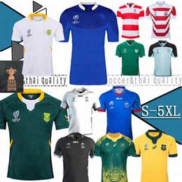 2019 camisetas del equipo Sudáfrica Australia Japón Jersey de Inglaterra Irlanda Frances 2019 Copa del Mundo de Rugby camisa equipo nacional de rugby 19-20 camisa del tamaño: S-5XL rebajas camisetas del equipo