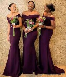 Robes d'église africaine en Ligne-2019 robe de demoiselle d'honneur sud-africaine pas cher été pays jardin église fête de mariage invité demoiselle d'honneur robe plus la taille sur mesure BC1288