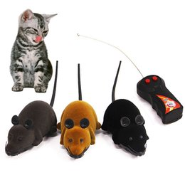 moving cat toys Promo Codes - Cat Toy Mouse Wireless Remote Control Mini RC Mouse Cat Toys False Pet RC Funny Playing Moving Toys for Cats