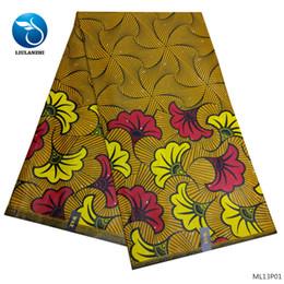 Tejidos de cera LIULANZHI 2019 tejido de cera de algodón de alta calidad africano real para mujeres u hombres 6 yardas ML13P01-ML13P07 desde fabricantes