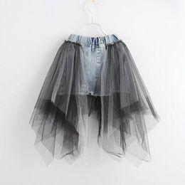 neue jeanskleider Rabatt Sommer neue spitze Mädchen Röcke prinzessin denim A-Line Kinder Rock jeans Bleistift Röcke kinder designer kleidung kinder kleid mädchen kleidung A4442