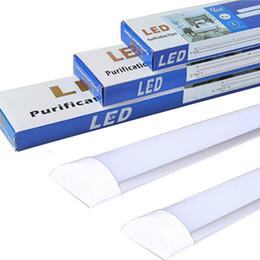 2019 luci di soffitto a soffitto alto LED Batten Light Tube LED Plafoniera ad alta luminosità Illuminazione per ufficio Soggiorno Bagno Cucina Garage Warehous luci di soffitto a soffitto alto economici