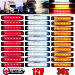 2019 luci a led verde per i camion Indicatore di camion per auto Trail Side 6 Luci a LED Lampada di segnalazione Scelta flessibile multipla 30PCS / 10PCS Rosso Bianco Giallo Blu Verde 12V / 24V luci a led verde per i camion economici