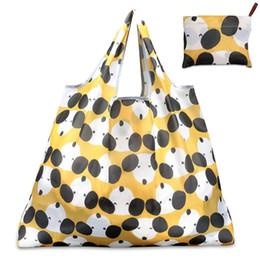 sacchetto di eco sveglio pieghevole Sconti Sacchetto della drogheria della verdura di frutta della borsa di riutilizzabile della borsa di riciclaggio pieghevole sveglia della signora sveglia # 31488