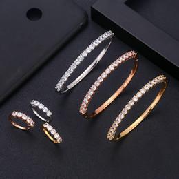 anel dubai Desconto Jankelly luxo único anel de pulseira africano definir conjuntos de jóias para as mulheres do casamento zircão cúbico de cristal cz dubai nupcial jóias