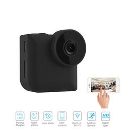 Micro caméra de contrôle sans fil en Ligne-C3 Mini Smart WiFi / Caméra IP sans fil P2P Télécommande sans fil Vision nocturne Mini caméscope d'extérieur HD 720P Micro Action C1 Mini-caméra