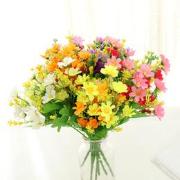decorazione dell'erba disposto mazzi vendita calda piccoli fiori all'ingrosso fabbrica diretta vendita Artificiale fiori di seta artificiale Home Wedding da
