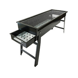 metal bbq grill Coupons - Portable Foldable Barbecue Grill Outdoor Burner Oven Drawer Type Charcoal Stove BBQ Tool