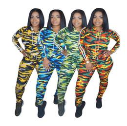 2019 camouflage outfits frauen Camo Frauen Trainingsanzug Trainingsanzug Zweiteiler Outfits Camouflage Hoodie Leggings Sportbekleidung Langarm Sweatshirts Pullover Hosen Sets 566 günstig camouflage outfits frauen