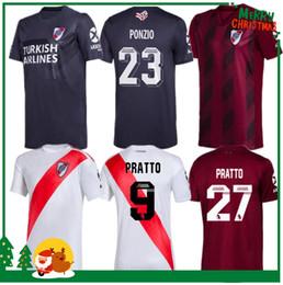 Prato do rio on-line-2019 Rio 2020 Placa Casa longe vermelho, branco Soccer Jersey 19 20 Riverbed River Plate Futebol shirt 2020 personalizada futebol Vendas uniformes