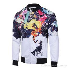 2019 universum kleidung Designer 3D Print Herren Jacken The Smoke Universe Herren Baseball Jacke Casual Homme Street Styles Kleidung rabatt universum kleidung