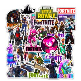 stickers pc Promo Codes - 50 pcs pack different fortnite Sticker Mixed Gamers For Car Laptop Skateboard iPad Bike Motorcycle PS4 PS3 Phone Decal Pvc Stickers