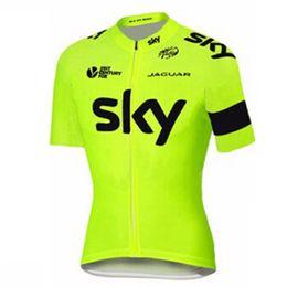 Argentina SKY 2019 camiseta de ciclismo de verano de manga corta transpirable España Racing team Bike Clothing Maillot Ropa Ciclismo Hombre supplier xs cycling jersey sky team Suministro