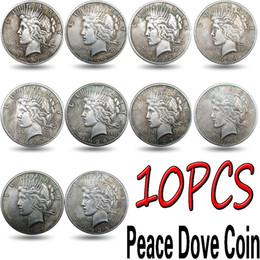 10pcs EUA Paz Coin1921-1935 Copiar moedas de cobre chapeamento de prata Coin Full Set Colecção de