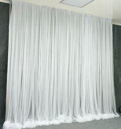 simples cenários de casamento Desconto 3X3 M simples fio de seda branco pano de fundo do evento de casamento cortina de festa cortina para festa de casamento decoração de casa palco fundo