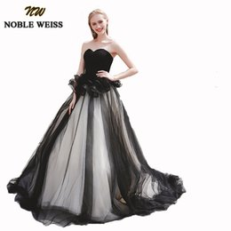2019 concurso de ropas Vestidos de fiesta únicos en dos colores, negro Puffy Tulle Robes de soiree longue Nuevo vestido de bola Dulce 16 Vestidos para niñas concurso de ropas baratos