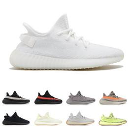 Atacado 2019 Homens Designer de Calçados Femininos Air Kanye West Estática Manteiga Zebra Preto Branco Beluge 2.0 Esportes Zapatos Sneakers US5-12.5 de