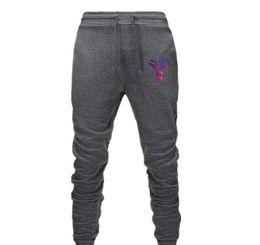 chándal de gimnasia de algodón Rebajas Kobe Bryant impresión de chándal para hombre pantalones casuales pantalones de algodón para hombre Sweatpants Joggers rayadas gimnasios ropa del tamaño extra grande