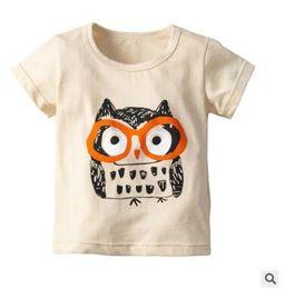4360c7b32 coruja das meninas camisetas Desconto Crianças Meninos Meninas Dos Desenhos  Animados Coruja Tops Camisetas 2019 Verão