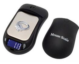 мини-лаборатории Скидка Мини Мышь Форма Кухонные Весы 200 г 0,01 г 500 г / 0,1 г Портативные цифровые ювелирные весы для Carat Diamond Lab 0.01 грамм точности Продажа