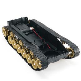 Motor de choque on-line-3V-9V DIY Shock Absorvido Robô Inteligente Chassis Crawler Car Kit Com 260 Motor Para SCM