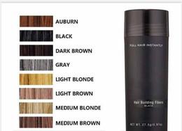 Estilos naturais de cabelo preto on-line-Fibra De Cabelo Natural Top Queratina 27.5g Cabelo Preto Construir Fibra de Emagrecimento Perda de Cabelo Corretivo Styling Pó Capa Área Careca