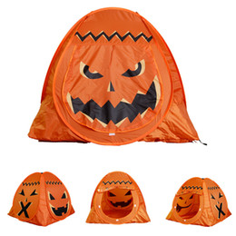 Внутренние палатки онлайн-Camping & Hiking Camping Tent Pumpkin Cartoon Children Play House Tents Portable Indoor Outdoor Children Tents