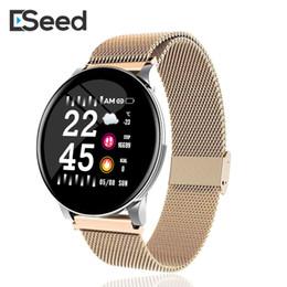 2019 ritmo cardíaco da engrenagem ESEED W8 Mulheres relógio inteligente IP67 Waterproof Heart Rate Previsão Smartwatch para Samsung Huawei Assista PK ativo engrenagem Assista ritmo cardíaco da engrenagem barato