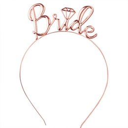 kronen für bräute Rabatt Rose Gold Silber Braut zu Tiaras und Kronen Stirnband Hochzeit Haarschmuck Schmuck Krone Tiara Frauen Party Haarbänder Geschenke