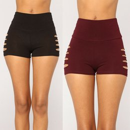 Bodycon yoga hose online-Frauen Hot Pants Gym Yoga Shorts Tanzsport Bodycon dehnbare Trainingshose